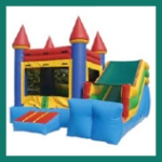 Blue Castle with Slide rental in San Diego from Aloha Bounce