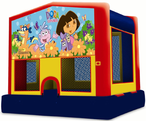 Dora the Explorer bounce house for parties in San Diego