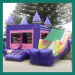 Pink Glitter and Purple Castle Jumper with Slide