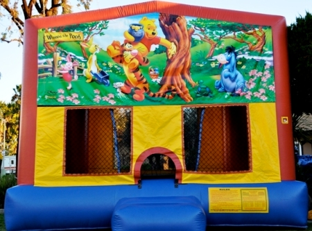 Pooh Bear party jumper bounce house in San Diego