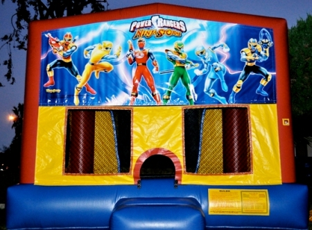 Power Rangers jumper bounce house makes a great kids party idea