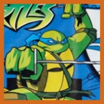 Teenage Mutant Ninja Turtles on a bounce house rental jumper from Aloha Bounce in CA